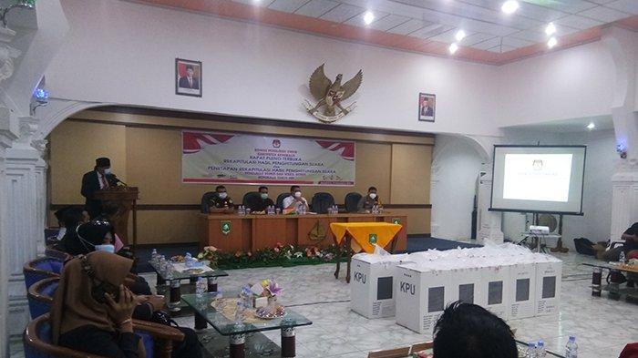 Berlangsung Terbuka, KPU Gelar Pleno Rekapitulasi Suara Pilkada Bengkalis 2020 Tingkat Kabupaten