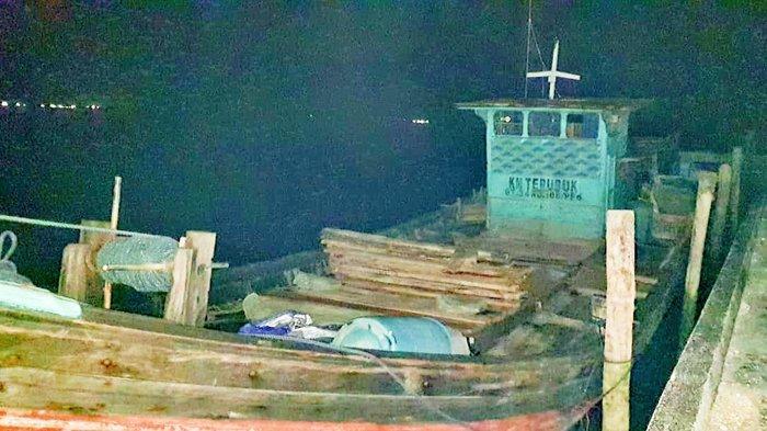 Polairud Mabes Polri Amankan Kapal Pengangkut Pasir Ilegal di Perairan Bengkalis, Mau Dibawa Kemana?