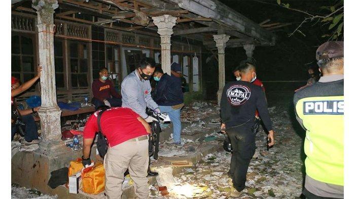 TKP Tempat Ledakan Petasan di Kebumen Mirip Zona Perang, Korban Bergelimpangan, 3 Tewas