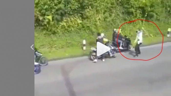 VIDEO VIRAL Detik-Detik Polisi Pukuli Pengendara, Kasatlantas: Penertiban Aksi Balap Liar