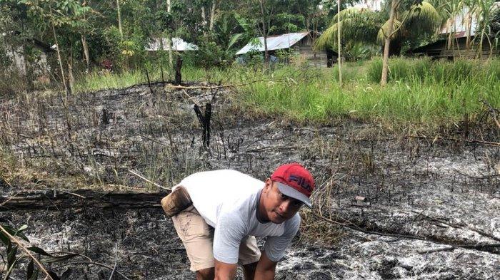 BK Tak Hiraukan Larangan Membakar Lahan. Kini Dia Jadi Tersangka Karhutla