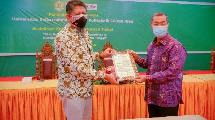 Politeknik Caltex Riau Jalin Kerja Sama dengan Universitas Baiturrahmah