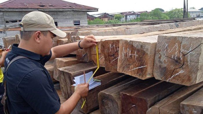 Diduga Hasil Illegal Logging, Polres Meranti Tangkap 791 Batang Kayu Muatan Kapal di Desa Lukit