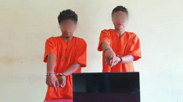 Polsek Pinggir Tangkap Dua Pria Pelaku Pencurian di Bengkalis Spesialis Membongkar Rumah
