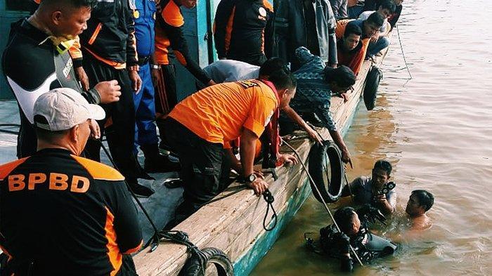 Pompong Terbalik di Inhil Riau, Bocah 6 Tahun Masih Dinyatakan Hilang