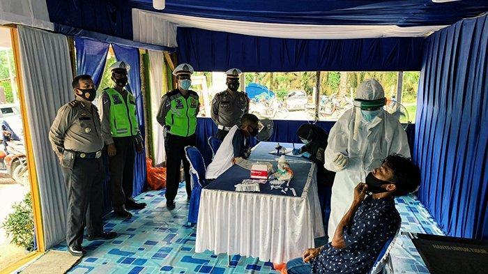 Perbatasan Riau-Jambi Makin Ketat Dijaga,Berlakukan Rapid Test Acak Khusus Pengendara Bersuhu Segini