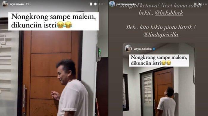 Postingan Arya Saloka menertawakan tetangganya di-repost Putri Anne (Kolase TribunStyle.com/Instagram @Arya Saloka/@Putri Anne)