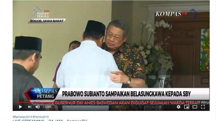 VIDEO: Melayat di Cikeas, Prabowo Menitikkan Air Mata Saat Berpelukan dengan SBY