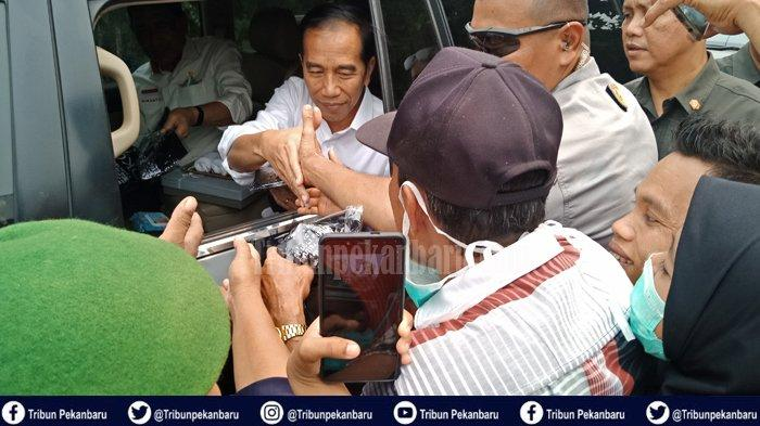 Presiden RI Jokowi Panggil Anak-anak yang Ingin Berfoto Dengannya, Paspamres Terpaksa Menarik Warga