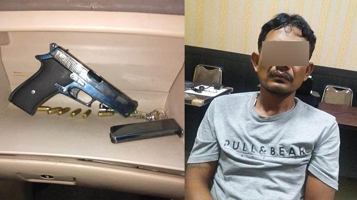 Pria di Rohul Riau Sembunyikan Senjata Api FN Tak Berizin di Pintu Kamar Mandi