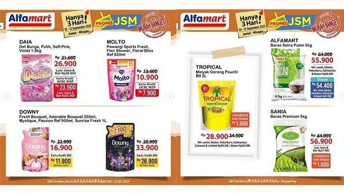 Promo JSM Alfamart Hari Ini 12 September 2021, Beras, Minyak Goreng, Popok Lagi Diskon