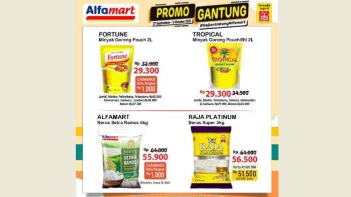 Promo Gantung Alfamart 3 Oktober 2021, Minyak Goreng, Beras dan Susu Lagi Diskon Bund