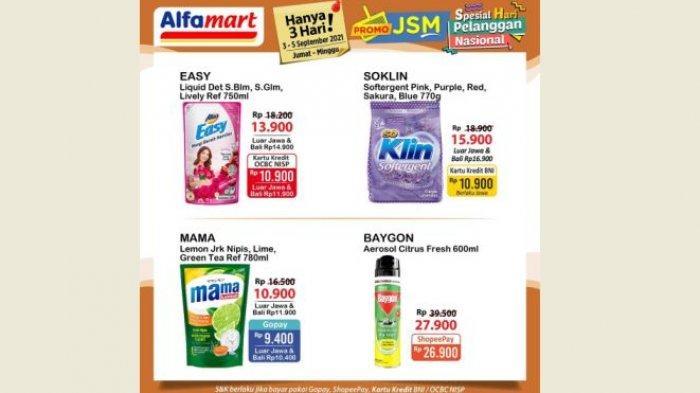 Promo Alfamart Hari Ini 4 September 2021, Harga Hemat Sabun, Susu & Popok Bayi di Hari Pelanggan