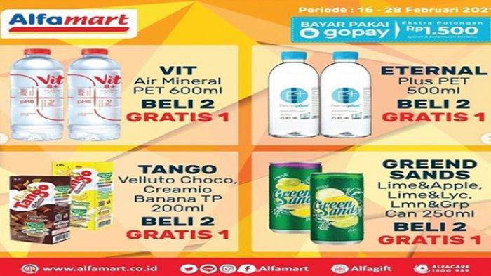 Promo Alfamart hari ini, promo harga spesial minuman dalam kemasan.