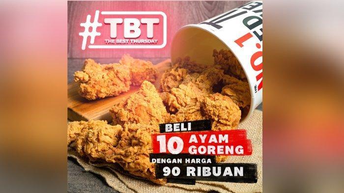 Promo KFC Hari Ini 5 Agustus 2021, 10 Potong Ayam Goreng Mulai Rp 90 Ribuan, Hanya Hari Kamis!