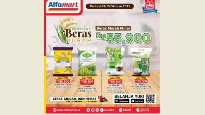 Promo Beras Murah di Alfamart Hari Ini 10 Oktober, Mulai Rp 55.900, Ayo Gercep Bund!