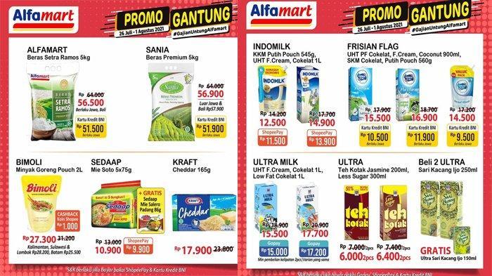 Katalog Promo Alfamart Hari Ini 31 Juli 2021, Ada Promo Minyak Goreng, Beras hingga Aneka Susu