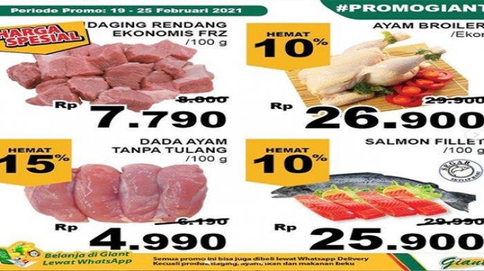 Promo Giant hari ini, Promo harga daging, beragam jenis daging.