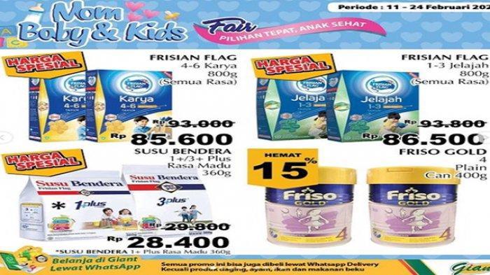 Promo Giant hari ini ragam kebutuhan ibu dan anak, harga susu Murah.