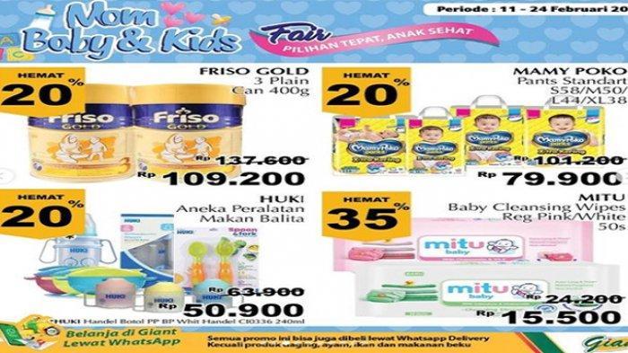 Promo Giant hari ini, susu UHT murah, 4 kotak Rp 10.000,-
