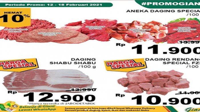 Promo Giant ragam produk daging.