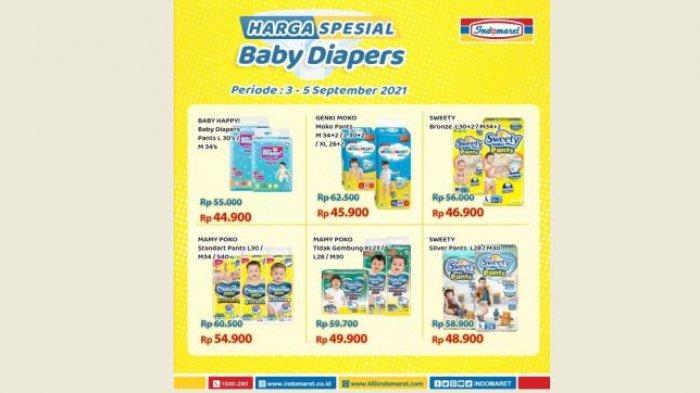 Promo Indomaret Hari Ini, Harga Spesial Popok Bayi dan Dewasa, Hemat Banget Bund
