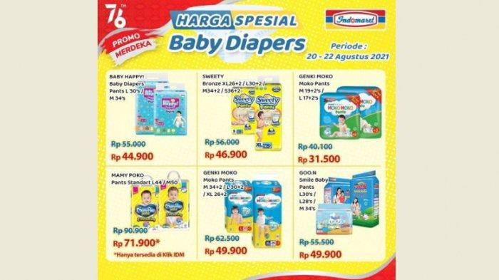 Promo Harga Spesial Baby Diapers & Others Diapers di Indomaret