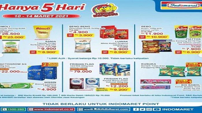 Promo Indomaret hari ini, harga minyak goreng Bimoli murah.