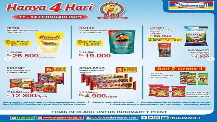 Promo Indomaret Hari Ini, harga minyak goreng murah, beras murah.
