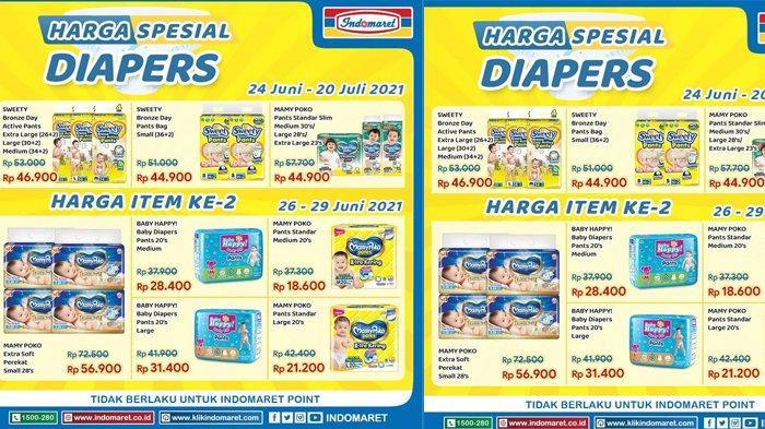 Promo Indomaret Hari Ini, Harga Spesial Popok Anak hingga Popok Dewasa, Buruan Bund!
