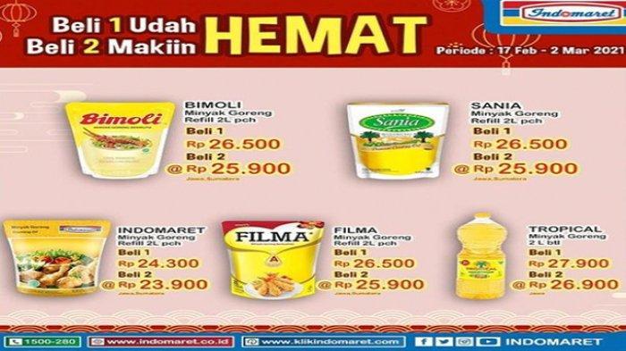 Promo Indomaret, Harga Minyak Goreng Murah Beragam Merek dan Ragam Kebutuhan Rumah Tangga Lainnya