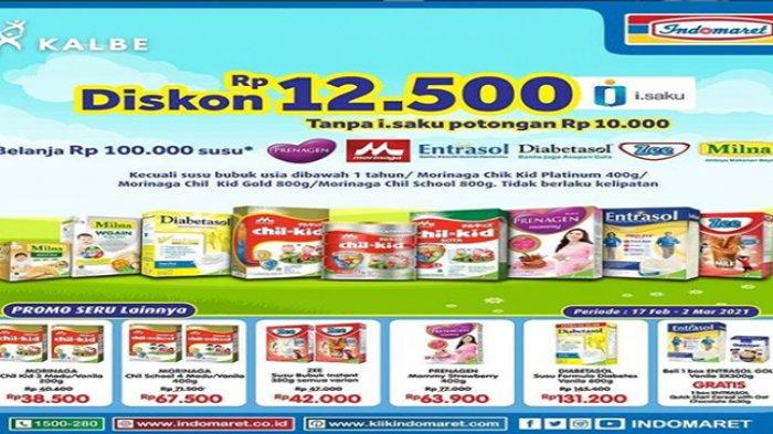 Promo Indomaret hari ini Diskon Susu Hingga Rp 12.500, Ada Juga Harga Minyak Goreng Murah