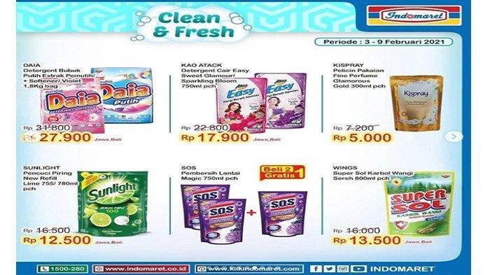 Promo Indomaret kebutuhan mencuci dengan harga murah.