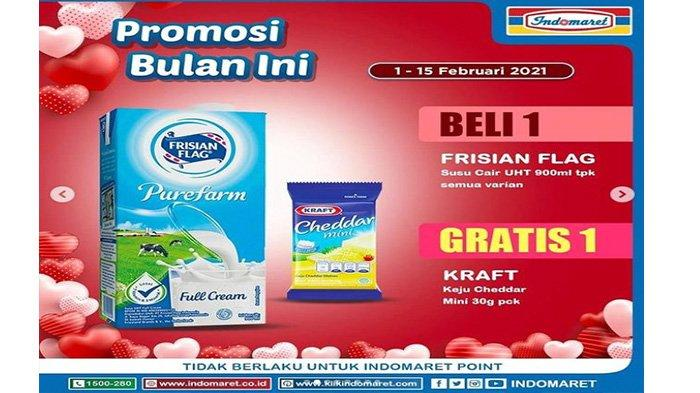 Promo Indomaret khusus susu UHT Frisian Flag.