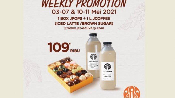 Promo JCO Hari Ini Ini, 1 Box Jpops dan 1 Liter Coffee Rp 109 Ribu, Cocok Buat Buka Puasa