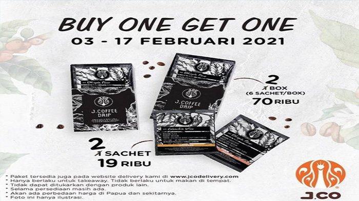 Promo JCO, Buy One Get One dari JCO Indonesia.