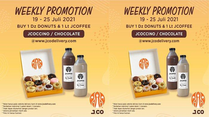 Promo JCO Hari Ini hingga 25 Juli, 1 Lusin Donat & 1 Liter JCoffee Hanya Rp 141.000