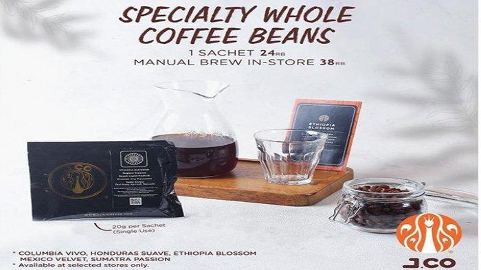 Promo JCO kopi spesial, Specialty whole coffee beans