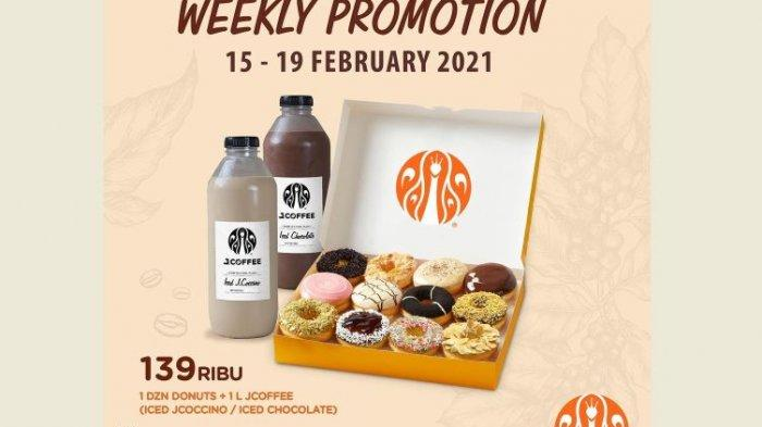 Promo JCO Hari Ini, Beli 1 Lusin Donut + 1 L JCOFFEE Hanya 139 Ribu, Buat Cemilan Sore Kamu