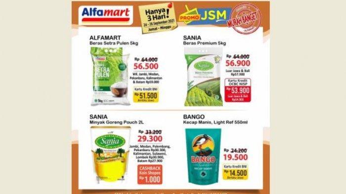 Promo JSM Alfamart Hari Ini 23 September, Minyak, Beras hingga Sabun Harga Murah Banget