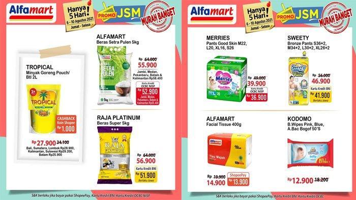 Promo JSM Alfamart 7 Agustus 2021, Minyak Goreng, Tisu, Popok Anak, Detergen Harga Murah Banget