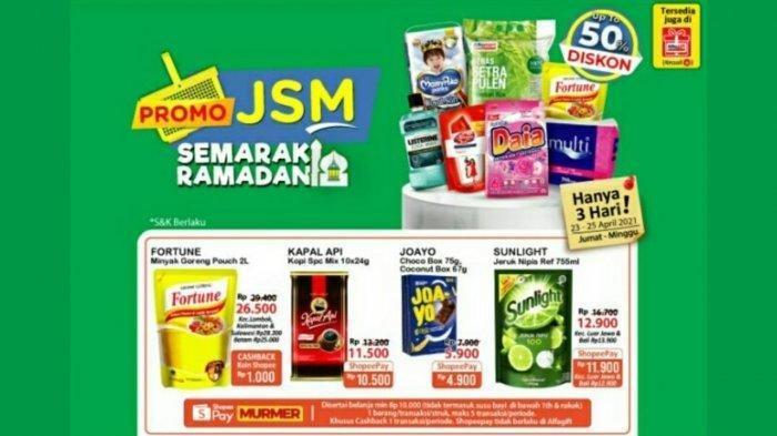 Promo Aneka Sirup, Biskuit Hingga Minyak Goreng, Cek Katalog Promo JSM Alfamart 23 - 25 April 2021