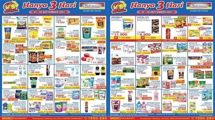 Promo JSM Indomaret Hari Ini 25 September 2021, Promo Heboh Minyak Goreng dan Popok, Super Hemat