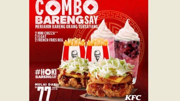 Promo KFC Hari Ini, Combo Barengsay Mulai Rp 77.273, Makan Siang Lebih Hemat!