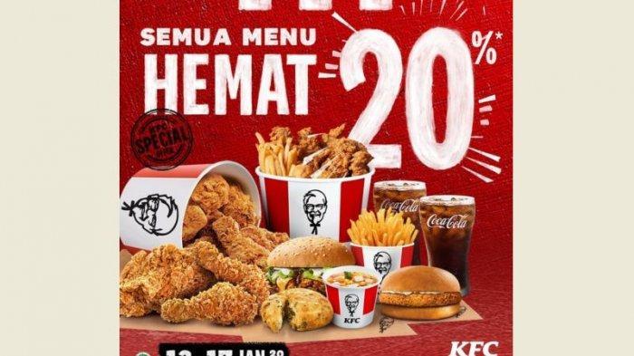 CEK Promo Makan KFC Hari Ini Kamis (14/1/2021)