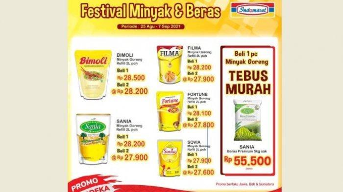 Promo Indomaret Hari Ini Festival Minyak dan Beras, Beli 2 Harga Lebih Murah Bund!
