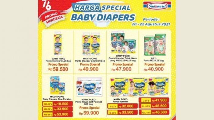Promo Indomaret Hari Ini Minggu 22 Agustus, Aneka Popok Bayi dan Dewasa Diskon Bund!