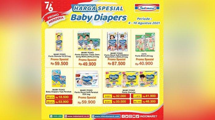 Promo Indomaret Hari Ini, Harga Spesial Aneka Popok Bayi, Hemat Banget Bund
