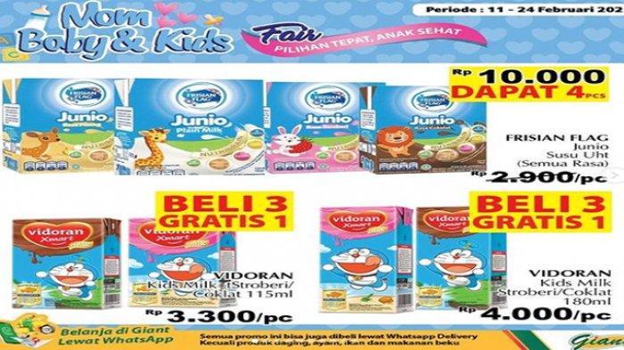 Promo susu anak murah di Giant beli 3 gratis 1 kotak.