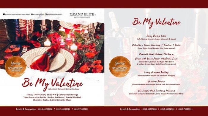 Will You Be My Valentine, Promo Makan Malam Hari Valentine di Grand Elite Hotel Pekanbaru
